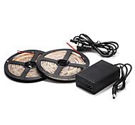 Недорогие -5м 60 × 2835smd теплый / холодный белый светодиодный водонепроницаемый свет прокладки и 12v источник питания