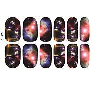 Недорогие -1шт Япония Harajuku звездное небо задние клей гвозди ломтик стикеры 12 пост