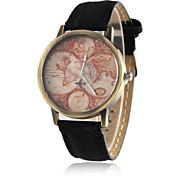 World Map Watch By Plane Watches Women Men Denim Fabric Watch Quartz Relojes Mujer Relogio Feminino Gift