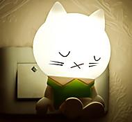 Недорогие -творческий теплый белый сонная кошка датчик света, относящиеся к детской ночной свет сна