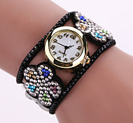 Women's Quartz Analog White Case Flower Leather Band Bracelet Wrist Watch Jewelry Cool Watches Unique Watches Fashion Watch Strap Watch