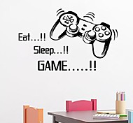 Eat Sleep Game Vinyl Wall Art Stickers Gamer Xbox Ps3 Boys Bedroom Letter Quotes Home Decoration Wall Mural