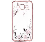 Für Samsung Galaxy Hülle Beschichtung / Transparent Hülle Rückseitenabdeckung Hülle Blume TPU Samsung J7 / J5 / J3