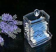 Недорогие -новый дизайн прозрачный акрил ватный тампон коробка Q-Tip держатель для хранения косметики макияж ящик для хранения инструмента женщин с