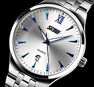cheap -SKMEI Men's Quartz Japanese Quartz Dress Watch Calendar / date / day Water Resistant / Water Proof Noctilucent Stainless Steel Band Luxury