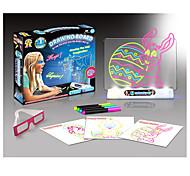Недорогие -Игрушка для рисования Игрушечные планшеты для рисования Игрушки LED освещение Флуоресцентный магия 3D 3D Бумага 100 Куски Подарок