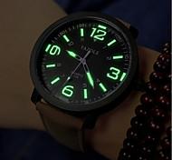 Недорогие -Мужской Женские Для пары Модные часы Защита от влаги Кварцевый PU Группа Черный Коричневый