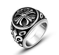 Недорогие -Муж. Кольцо Серебряный Титановая сталь Прочее Мода Повседневные Бижутерия