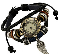 cheap -Women's Alloy Leather Handcrafted Vintage Bracelet Table Wrist Watch