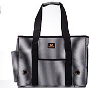 полоса стиль сумка для перевозки домашних животных собака для собак и кошек