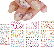 cheap -1 Water Transfer Sticker Nail Jewelry Full Nail Tips Flower Abstract Cartoon Fashion Lovely Wedding Daily High Quality