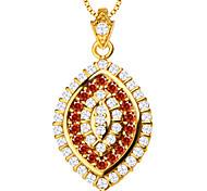роскошный циркон кулон ожерелье высокого качества 18k позолоченными Австрийское кристаллическое ювелирные изделия способа женщин бренда