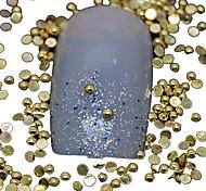 100шт полукруглый золотой металлической заклепки украшения искусства ногтя