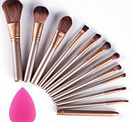 cheap -12pcs Makeup Brushes Set with Puff Sponge Profession Soft Cosmetic Kit Makeup Artist