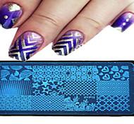 1шт 12 * 6см искусства ногтя штамповки пластины инструменты геометрический дизайн изображение красивый цветок ногтей 09-16