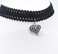Necklace Choker Necklaces Torque Tattoo Choker Jewelry Daily Casual Tattoo Style Fashion Lace 1pc Gift Black