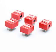 Недорогие -поделки 3 полюс 2 позиции 6-контактный переключатель DIP (5 шт Pack)