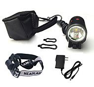 Headlamps Bike Lights Front Bike Light LED Cree XM-L T6 Cycling Impact Resistant Rechargeable Waterproof 18650 1200 Lumens Battery