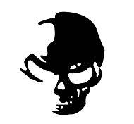 cheap -ZIQIAO Reflective Sneak Ghost Rider Skull Car Stickers Car Decals Styling Car Accessories