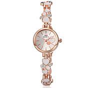 Женские Модные часы Часы-браслет Защита от влаги Кварцевый сплав Группа Элегантные часы Черный Белый