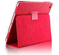 cheap -Case For iPad Air 2 with Stand Auto Sleep / Wake Full Body Cases Solid Color PU Leather for iPad Air 2