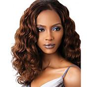 cheap -Women Long Deep Wave Synthetic Hair Wig Dark Brown Heat Resistant Fiber Cheap Cosplay Party Wig Hair