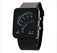 cheap -Men's Women's Couple's Digital Wrist Watch Touch Screen LED Rubber Band Charm Fashion Black White Blue Purple