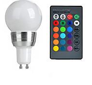 cheap -GU10 85V-265V 100-200Lm 3W RGB Remote Control LED Colorful Bulbs