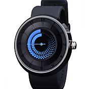Men's Fashion Watch Casual Watch Quartz LED Silicone Band Black