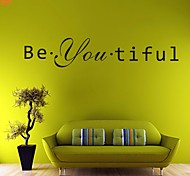 AYA™ DIY Wall Stickers Wall Decals,  Beautiful English Words & Quotes PVC Wall Stickers