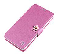Для Кейс для  Samsung Galaxy Бумажник для карт / Стразы / Флип Кейс для Чехол Кейс для Сияние и блеск Твердый Металл SamsungGrand Max /