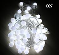 economico -Fili luminosi 50 LED Bianco caldo Colori primari Bianco Ricaricabile Impermeabile 100-240V