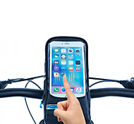 ROSWHEEL Bike Handlebar Bag Cell Phone Bag 5.7 inch Waterproof Zipper Wearable Moistureproof Shockproof Touch Screen Cycling for Iphone 8