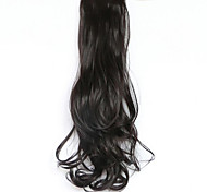 Недорогие -черный длина 50 см новый тип пояса длинные вьющиеся парик хвощ волосы поддельные конский хвост (цвет 99j)