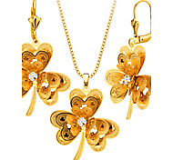 Women's Jewelry Set Necklace/Earrings Party Fashion Wedding Party Gold Plated Earrings Necklaces