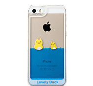 Funny Design Fluid Liquid Flowing Yellow Duck Crystal Clear Plastic Hard Case Cover for iPhone 6Plus/6S Plus