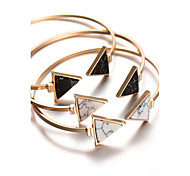 cheap -Women's Bangles Cuff Bracelet Personalized Bohemian Alloy Triangle Geometric Jewelry Christmas Gifts Party Daily Casual Costume Jewelry