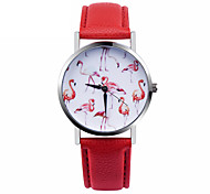 Flamingo Watch Women Watches Leather Unique Jewelry Accessories Gift Idea Spring Unique Custom Ladies Birds Trendy Strap Watch