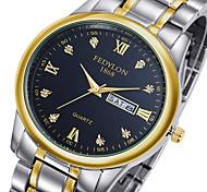 Men's Dress Watch Quartz Calendar / date / day Stainless Steel Band Luxury Silver