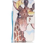 Недорогие -Кейс для Назначение Apple iPhone 6 iPhone 6 Plus Бумажник для карт Кошелек Флип Чехол Животное Мягкий Кожа PU для iPhone 6s Plus iPhone