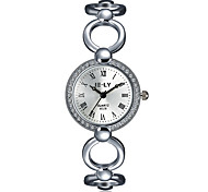 2016 Jewelora Luxury Noble Cubic Zircon Silver Quartz Women Skeleton Watch