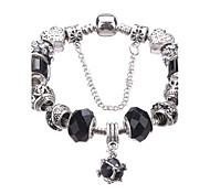 cheap -Women's Charm Bracelet Strand Bracelet Crystal Fashion Durable European Beaded Crystal Acrylic Rhinestone Silver Plated Geometric Jewelry