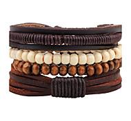 Unisex Fashion Jewelry Bohemia Style Handmade Adjustable Strand Loom Leather Bracelet Casual/Daily Women Men  Christmas Gifts
