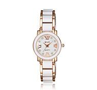 Недорогие -jewelora Женские Нарядные часы Модные часы Ударопрочный Кварцевый Керамика Группа Винтаж Розовое золото