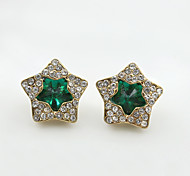 Crystal Rhinestone Alloy Fashion Star Black Green Blue Jewelry Wedding Party Daily Casual Sports 1 pair
