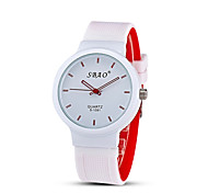 Men's Fashion Watch Casual Watch Quartz Silicone Band Candy color Multi-Colored