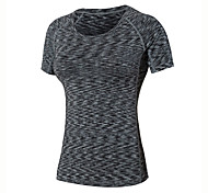 Women's Running T-Shirt Short Sleeves Quick Dry Breathable Compression Sweat-wicking Sweatshirt T-shirt Top for Yoga Exercise & Fitness