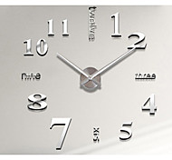 New DIY 3D Home Decoration Wall Clock Big Mirror Wall Clock Modern Design,Large Size Wall Clocks