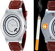 cheap -Men's Fashion Watch Wrist watch Unique Creative Watch Lighter Quartz Alloy Band Casual Unique Creative Black Brown