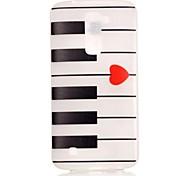 Piano Pattern Pattern Relief Glow in the Dark TPU Phone Case for LG K10/K8/K7/K5